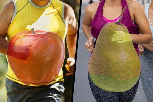 apple and pear shape diptych - O que sua cintura lhe diz